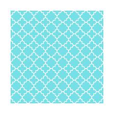 Arabic Pattern Classic Quatrefoil Arabic Pattern In Aqua Blue