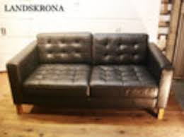 ikea black furniture. SALE IKEA / LANDSKRONA Lang Lorna 2 P Leather Black  Scandinavian Furniture Sweden Chair Ikea S