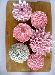 Creative Wedding Cupcakes In The Shape Of Flowers 2049954 Weddbook