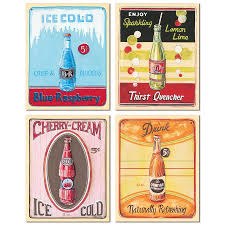Vending Machine Drink Labels Amazing Classic 48's Era Vending Machine Ice Old Soda Sign Prints Four