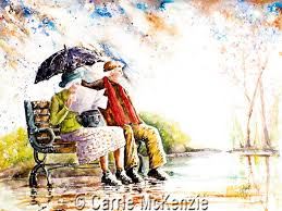 SUMMER RAIN PAINTING - A SUMMER SHOWER, Carrie McKenzie
