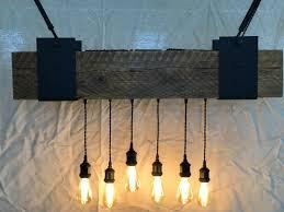 Reclaimed Modern Rustic Barn Light Chandelier Beam