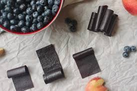 oven dried blueberry fruit leather