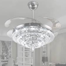 2018 led crystal chandelier fan lights invisible fan crystal regarding crystal chandelier ceiling fan