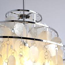 ceiling lights modern chandelier white shell pendant lights lamp with 1 light wind chime bulb not included