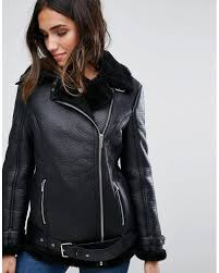 barneys originals black barneys faux leather aviator jacket nice and generous womens jackets tq6dhzxb8so6 larger image