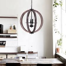 shop 21inch distressed weathered oak 4light wood orb chandelier free shipping today overstockcom 19798688 wood orb chandelier t96