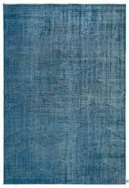 blue over dyed turkish vintage rug 6 3 x 9