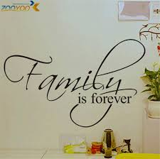 Small Picture Aliexpresscom Buy family is forever home decor creative quote