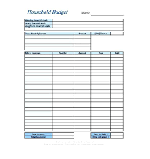 Free Printable Budget Worksheet Template Personal Blank