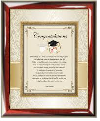 college or high school graduation gift for son or daughter frame congratulation graduation poetry gift frame for him or her