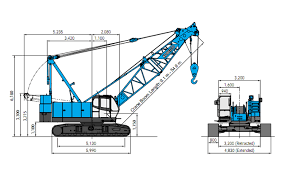 Kobelco 300 Ton Crawler Crane Load Chart 7070 Kobelco Construction Machinery Co Ltd