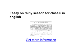 essay on rainy season for class in english google docs