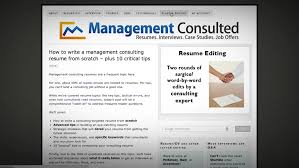 To Resumes Resume Editing Services For Consultants Management Consulted
