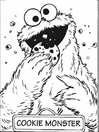 Cookie Monster Coloring Pages Coloring Pages For Kids