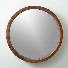 Solid sustainable acacia wood comes full circle to showcase a sweeping  grain and warm hi/lo tones. Spanning two feet in diameter, handcrafted  wooden frame ...