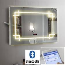 Bathroom Illuminated LED Mirror Bluetooth Speaker Shaver Demister