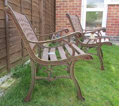 unusual garden furniture. Beautiful Garden 2 X Unusual Garden Benches Cast Iron Bench Ends And Backs Vintage  Throughout Furniture