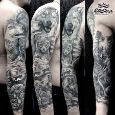 эскизы и значения тату рукава для мужчин и женщин 115 фото