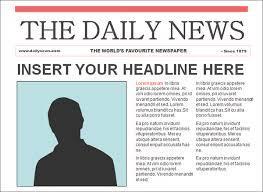 Basic Newspaper Template Editable Newspaper Template Bravebtr