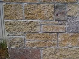 3 exterior stone wall panels