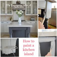 To Paint Kitchen Painted Kitchen Island