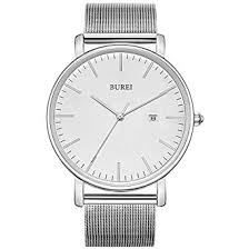 BUREI Watch Men Stainless Steel mesh Belt Quartz ... - Amazon.com