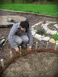 woven willow garden bed