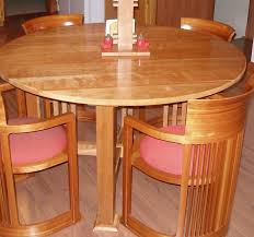 round table with four spindles