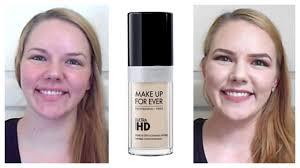 first impression follow up makeupforever ultra hd foundation