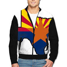 Amazon Com Mens Classic Jackets Arizona Flag Texas Map