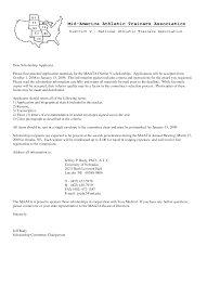 Scholarship Cover Letter Examples Sample Cover Letter For College