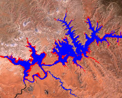 Lake Powell Water Level Chart Drought In The Colorado River Basin Shrinkage Of Lake Powell