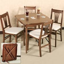 folding wood card table and chairs scalloped folding card table