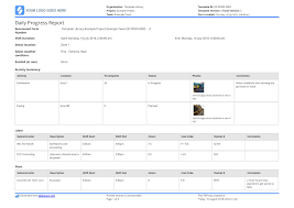 Free Construction Daily Report Template Better Than Pdf Excel Word