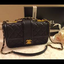 20% off CHANEL Handbags - CHANEL Lambskin Flap wGold Hardware ... & CHANEL Lambskin Flap wGold Hardware Black Quilted Adamdwight.com