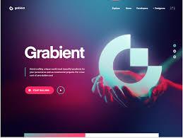Pink Website Design Grabient Home Page Lobanovskiy Pink Blue Gradient
