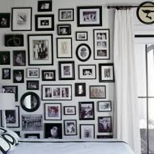 black picture frames wall. I Like The Crispness Of A Black And White Gallery Wall, Or Prettiness Various Colored Frames! So Many Options! Picture Frames Wall