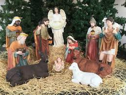 The nativity set comes with 12 figures. figures are made fiberglass and resin Indoor/Outdoor 32\