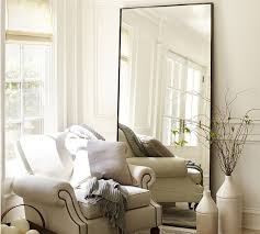 white leaning floor mirror. Contemporary Mirror Pottery Barn Oversized Leaning Floor Mirror  Home Decor  Floor Mirrors  Antique Bronze Beveled To White