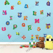 large alphabet abc wall stickers kids