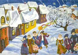 Зимние святки сценарии праздников анимации корпоративных  Святочная открытка