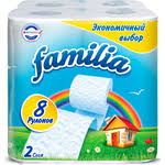 Купить <b>Туалетная бумага FAMILIA Радуга</b> Белая 2 слоя 8 рулонов ...