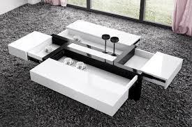 Table Basse Laqu Blanc Et Noir Table Basse Blanche Tiroir