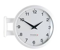 details about modern art design double sided wall clock station clock home decor ma5white