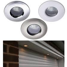 10 x ip65 soffit outdoor bathroom shower downlights halogen led no lamp