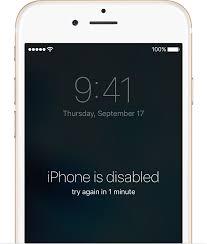 iphone6 ios9 passcode error disabled