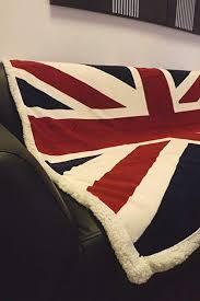 <b>Union</b> Jack Fleece Blanket Throw - Red Whit Blue. <b>British</b> Flag ...