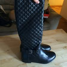 chanel quilted boots. chanel look alike quilted boots with buckle i