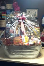 awesome dinner and a gift basket